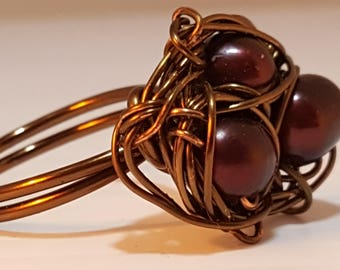 Bronze Birds Nest Ring