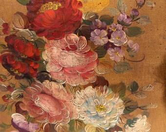 Mid-Century Vito Ruggeri Floral Still Life Painting