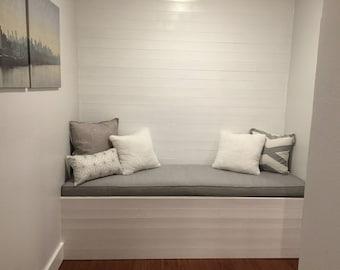Custom Window Seat/Bench Cushion | Mudroom Cushion | Reading Nook Cushion | Seat Cushion | Kitchen Banquette Cushion | Chair Pad Cushion |