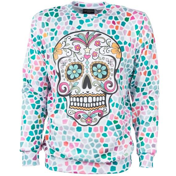 clothing mexico unique women jumper men hipster costume 4xl sweatshirt Muerte festival women art psychedelic halloween men Santa sweatshirt nFPB8qw1xx