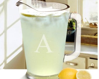 Personalized Pitcher , Monogrammed Pitcher, Glass Pitcher