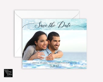 Ocean Save the Date Custom Print