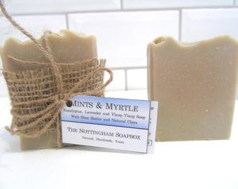 Mints & Myrtle - Eucalyptus, Lavender and Ylang-ylang Soap
