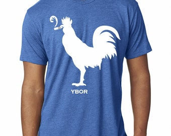Smokin' Rooster Tee (Vintage Royal Blue)