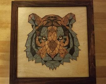 Tiger Wood Mosaic