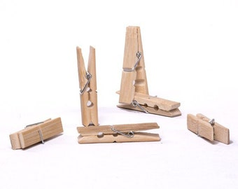 Bamboo clothes pegs clothespins