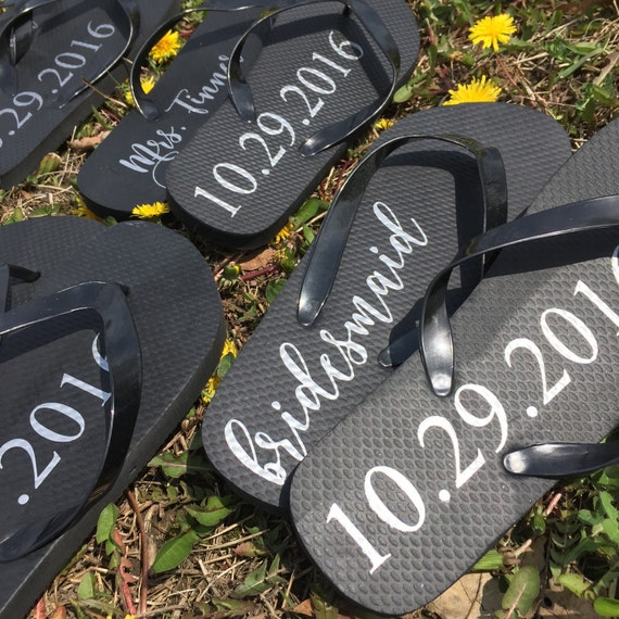 Flip Flop Labels DIY Project Bridal Party Gift Bridesmaid
