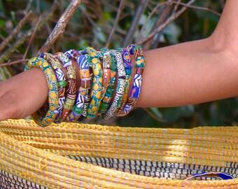 krobo bead/ african beaded bracelet