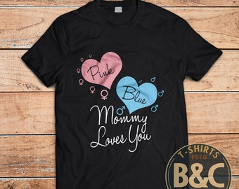 Pink or Blue, Mommy Loves You, Women's short sleeve t-shirt