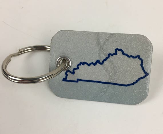 Kentucky License Plate Keychain -Key Ring Key Chain Made from Kentucky Plate - Gift for Mom / Wife / Daughter / Friend