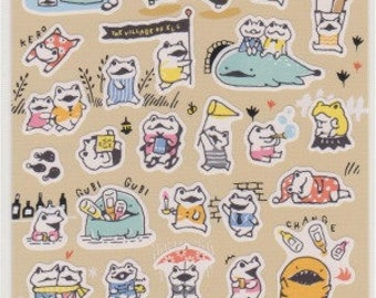 Frog Stickers - Japanese Stickers - Mind Wave Stickers - Reference A6706