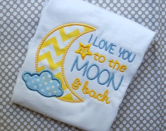 I Love You to the Moon Onesie, I Love You to the Moon Shirt