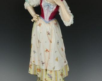 "Antique 19C large 16"" Dresden Volkstedt figurine"