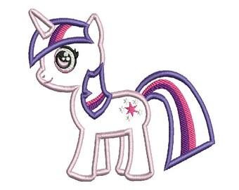 MLP My little pony Twilight Sparkle  machine embroidery applique design