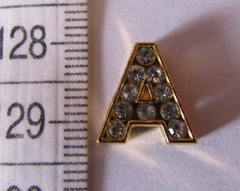 """pearl letter, bead passing, from """"A to K"""", golden bead, 12mm, for bracelet"""