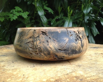 Stained oak wood Bowl