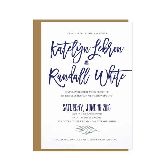 Burgundy & Navy Dover Wedding Invitation
