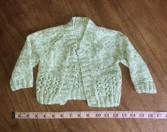 Hand knitted baby cardigan (newborn size)