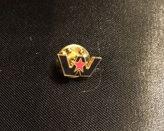 W Pin With. Red Star on it . . .