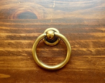 Plain Brass Ring Pulls Hardware Cabinet Pull Drawer Pull