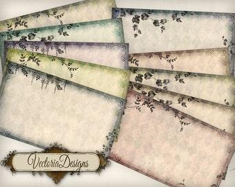 Blank Vintage Labels printable paper craft art hobby crafting scrapbooking instant download digital collage sheet - VD0501
