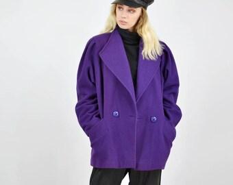 Vintage 80's Purple Wool Jacket
