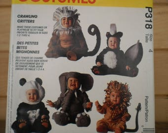 Pattern McCALL's costumes P318 S size 4
