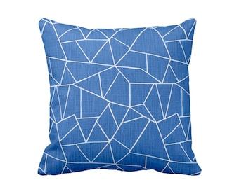Decorative Throw Pillow Cover 20x20 Cobalt Blue Pillows Accent Pillow Cover 18x18 Decorative Pillow Cover 24x24 Toss Pillow Geometric Pillow