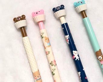 Kawaii Pencil // Bear Cupcake Pencil