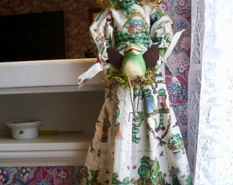 "Handmade Folk Art  Primitive - Felicia's Frog- 22"""