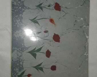 Handmade ebru marble placemats
