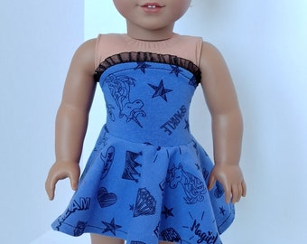 """18 """" Doll Dress.18 inch doll clothes. Fits like American girl doll clothes. 18 inch doll clothing. Strapless dress"""