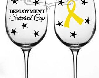 Deployment survival cup DIY decal set