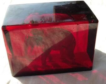 Vintage cherry amber faturan germany bakelite 544 grams