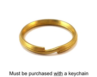 Key Chain Alteration: Solid Brass Key Ring, Split Ring