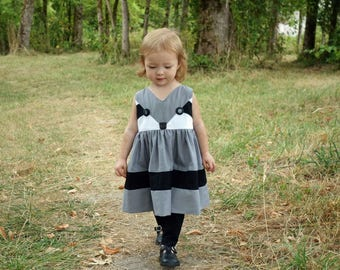 Maggie's Baby Perfect Color Block Dress and Tunic PDF Sewing Pattern sizes newborn to 18/24 mos.