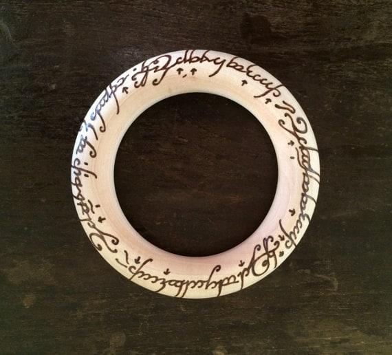 Elvish Lord of the Rings Baby Teether LOTR Teething Ring
