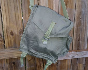 Vintage Military Bag- Canvas Bag- Shoulder Bag-