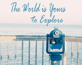 Art, Photography,Travel Print, Explore Image, Inspirational Art, Coastal Print, Home Decor, Cottage Print, Blue Waves, Sunshine, Seashore