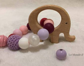 Baby teether / teething toy / teething ring / rattle teething / chew beads