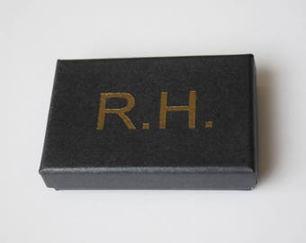 Personalised Collar Stays Box with 2 Pairs of Stiffeners in Stainless Steel