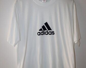 Adidas T-shirt Vintage 90s Sportswear Size M