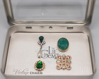 Vintage Magnetic Wine Charms: Emerald City Set of 4