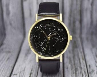Vintage Constellation Watch | Southern Hemisphere | Leather Watch | Ladies Watch | Men's Watch | Birthday | Wedding | Gift Ideas | Accessory