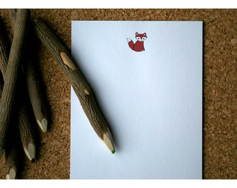 Little Red Fox Personalized Notepad
