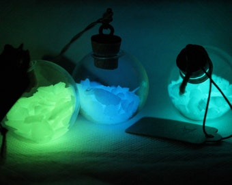 3 Glow Globe Magical Fairy Light Necklaces
