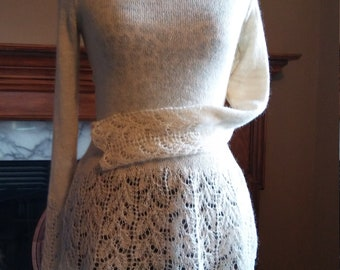 White Lace Alpaca Sweater