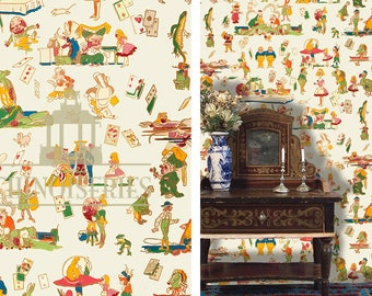 Dollhouse Miniature Wallpaper, Go Ask Alice, Scale One Inch