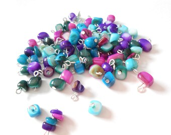 Multi Color Bead Chip Dangle Beads