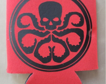Hail hydra beer can cooler
